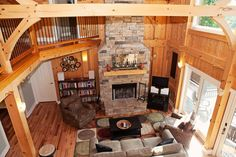This bright and warm full timber frame home beckons you to come and stay a while. With soaring rafters, high ceilings, hardwood floors throughout, and warm tones, Mountain Haven will make you wish you could stay longer.  http://www.yondernc.com/edenderry-collection/mountain-haven/