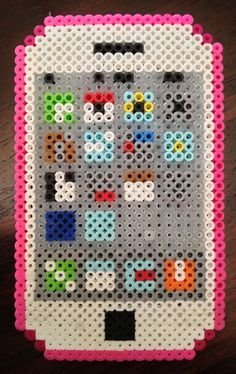perler bead ideas phone with app - Google Search