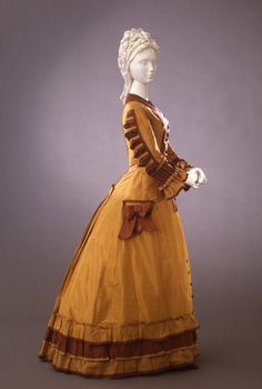 Fripperies and Fobs Day dress ca. 1876-78 From the Galleria del Costume di Palazzo Pitti via Europeana Fashion