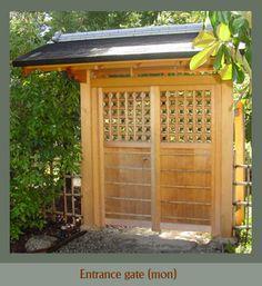 KI Arts | Traditional Japanese Carpentry | Garden Stuctures | Teahouse, viewing pavilion, entrence gate (mon), bridge