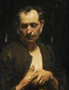 William Orpen (Irish, 1878-1931), A Saint of the Poor, c.1905. Oil on canvas, 68.6 x 54.5 cm. Glasgow Museums.