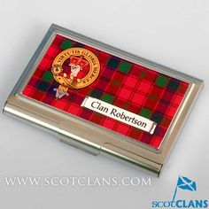 Robertson Clan Crest Business Card Case