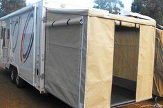 Tailgate Room Porch More Enclosed Trailer Camper Cargo Trailers