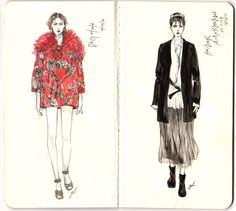 Modeconnect.com - Sketchbook fashion illustrations of the SS14 shows by Connie Lim