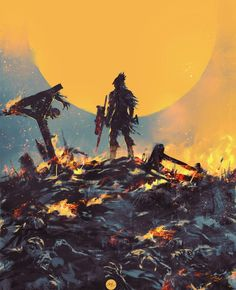 Dark Blood, Old Blood, Arte Steampunk, Bloodborne Art, Praise The Sun, Blood And Bone, Fandom, Sun Art, Fire Dragon