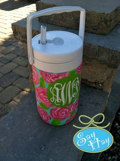 Cooler Hand Painted Personalized 1/2 Gallon with by SayHayGifts, $52.00
