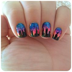 #IHeartNailArt    ~inspiration! She has the skills...jelly for this design (not my own nail art)
