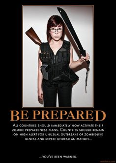 Hipster....  she's carrying 5.56 ammo for an AR that she doesn't have.