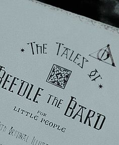 The Tales of Beedle The Bard | come on, babbity rabbit.. no?