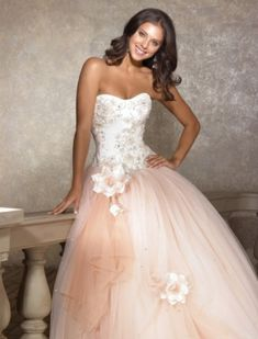 rose gold wedding dress <3
