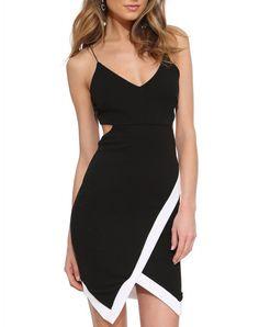 $15 Pretty great shape. Black Spaghetti Strap Cut Out Back Dress
