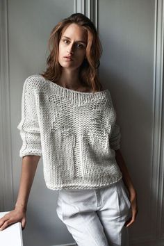 White cotton Sweater Spring Summer  Sweater Knit от NatalyZigZag