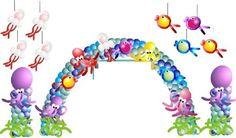 Comentarios de Hilda jimenez - FIESTAIDEAS.com Balloon Crafts, Balloon Decorations, Baloon Decor, Balloon Ideas, Ideas Para Fiestas, Holidays And Events, Under The Sea, 3rd Birthday, Some Fun
