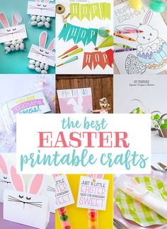 10 Best Easter Printable Crafts on Love The Day Easter Printables, Printable Crafts, Free Printables, Party Printables, Bunny Crafts, Easter Crafts, Easter Ideas, Easter Coloring Pages, Coloring Pages For Kids