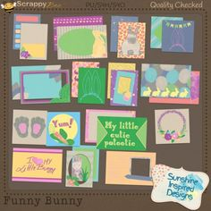 Buy the {Funny Bunny} Colelction and get the {Funny Bunny} Quick Pages and {Funny Bunny} Quick Pocket Pages for free.   February is an adopt a rescue bunny month. This inspired me to design the {Funny Bunny} Collection. It is not Easter themed collection, you will not find colorful eggs or baskets inside of this collection. It is all about rescue bunnies. This collection is made to bring awareness to everyone that there are not only dogs and cats who need homes. Little critters like bunnies…