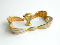Vintage Noritake peach lusterware serving dish by agardenofdreams, $24.00