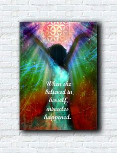 Miracles Happen - Canvas Print Abstract Art by Tara Catalano