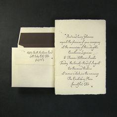 Letterpress wedding invitations by Oblation