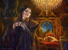 Marchesa, the Black Rose MtG Art by Matt Stewart