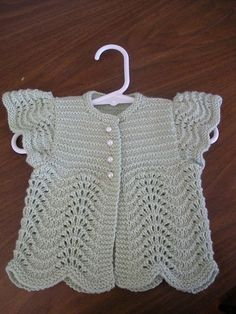 """Ravelry: Project Gallery for Angel Sweater for Baby pattern by Annie Dempsey [   """"knittily"""