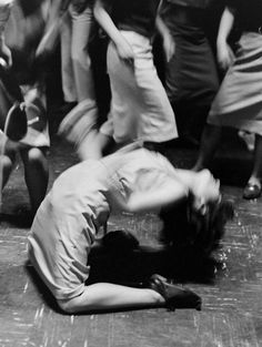 On the dance floor in Japan, 1964//