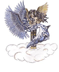 Up there in the sky (animated) - Mythology Art Les Oeuvres, Mythology, Animation, Sky, Illustrations, Paint, Heaven, Heavens, Illustration