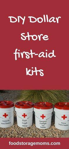 DIY Dollar Store first-aid kits