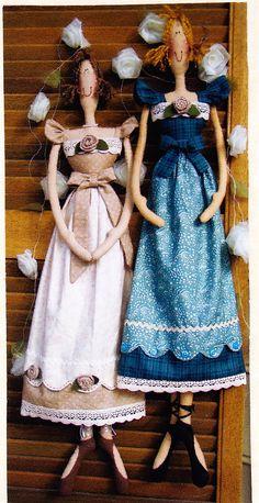 PATTERN - Dottie Dancer - country style cloth doll PATTERN - Annie Smith Designs
