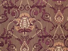 Aubergine Mona Lisa traditional Damask upholstery and Drapery Fabric