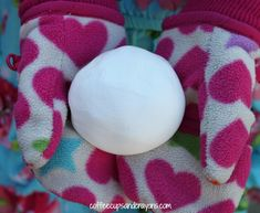 Make bouncy snowballs with liquid starch and Elmer's glue.