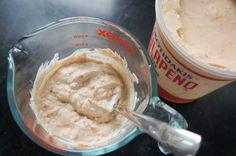 jalapeno greek yogurt dip like the Costco dip! Making it right now with homemade unsweetened vegan yogurt. Yay!!!