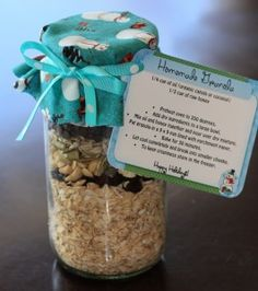 granola bars in a jar