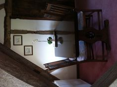 Rafters (sleeps 2), self catering apartment, The Manor House, Broadway. Vaulted dining area with original oak beams.
