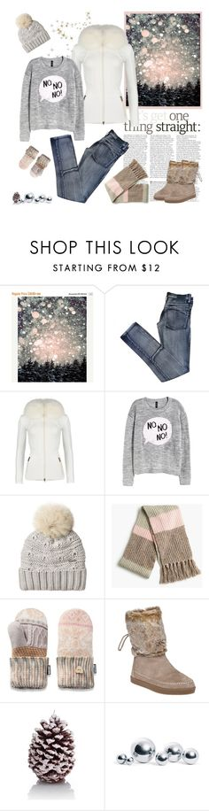 """""""White&Grey"""" by minni ❤ liked on Polyvore featuring Cheap Monday, K100 Karrimor, H&M, Woolrich, J.Crew, Muk Luks, TOMS, Marks & Spencer and blomus"""