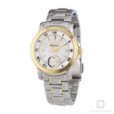 Seiko Women's SRKZ66P1 Premier Two Tone Stainless Steel Analog Mother-Of-Pearl Dial Watch