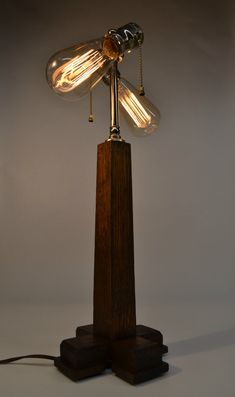 Antique Primitive Craftsman Desk Lamp Oak by ModernArtifactDecor #antique #craftsman #desklamp