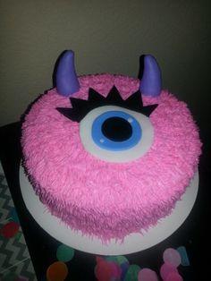 Monster Birthday Cakes, Monster First Birthday, Monster Birthday Parties, Baby Girl First Birthday, Cool Birthday Cakes, Pink Birthday, Birthday Cake Girls, Monster Party, 3rd Birthday