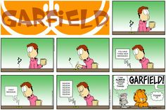 """Created by Jim Davis, Garfield is about the famous fat cat and his hilarious daily adventures with his """"pal"""" Odie and others. Garfield Cartoon, Garfield And Odie, Garfield Comics, Pokemon, Smiles And Laughs, Best Books To Read, Funny Thoughts, Classic Cartoons, Fat Cats"""