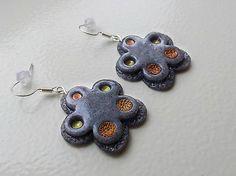 Polymer clay earrings KatikaZ / Kvet-flowers http://www.sashe.sk/KatikaZ  http://www.fler.cz/katikaz https://www.facebook.com/pages/Katika-Handmade-jewelry/611752618918894?ref=hl