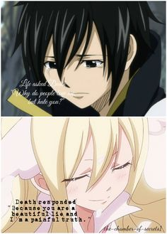 Mavis x Zeref: Fairy Tail: This picture does not only perfectly represent Mavis and Zeref but is also very true.