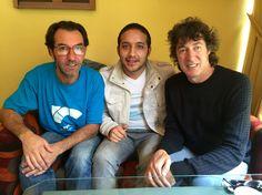 Con Cuarteto de Nos en La Paz - Bolivia a mi lado derecho Roberto el vocalista