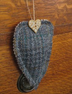 Harris Tweed Decorative Heart £5.00