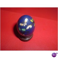 WOODEN BASE VINTAGE ENAMAL PAINTED SMALL EGG Listing in the Other,Decorative,Home & Garden Category on eBid United Kingdom | 145691220