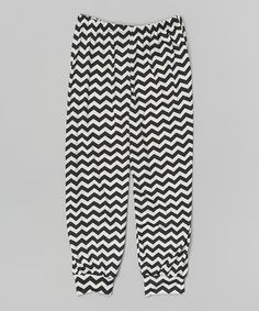 Look at this #zulilyfind! Black & White Stripe Harem Pants #zulilyfinds