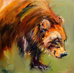 Not a painting a day: ARTOUTWEST DIANE WHITEHEAD BEAR ART OIL ...