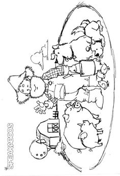 coloring pages old mcdonald speakaboos worksheets