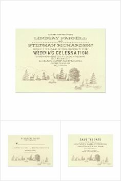 Camping Wedding Collection