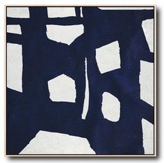 Navy and White Painting #NV57A