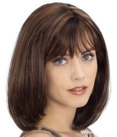 Medium Length Hairstyles for Round Faces With Bangs                                                                                                                                                                                 More