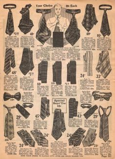 1920s Men's ties for sale. Found at VintageDancer.com